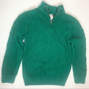 Gymboree 2 Boys' Green Cable Zip Sweaters 2 sizes